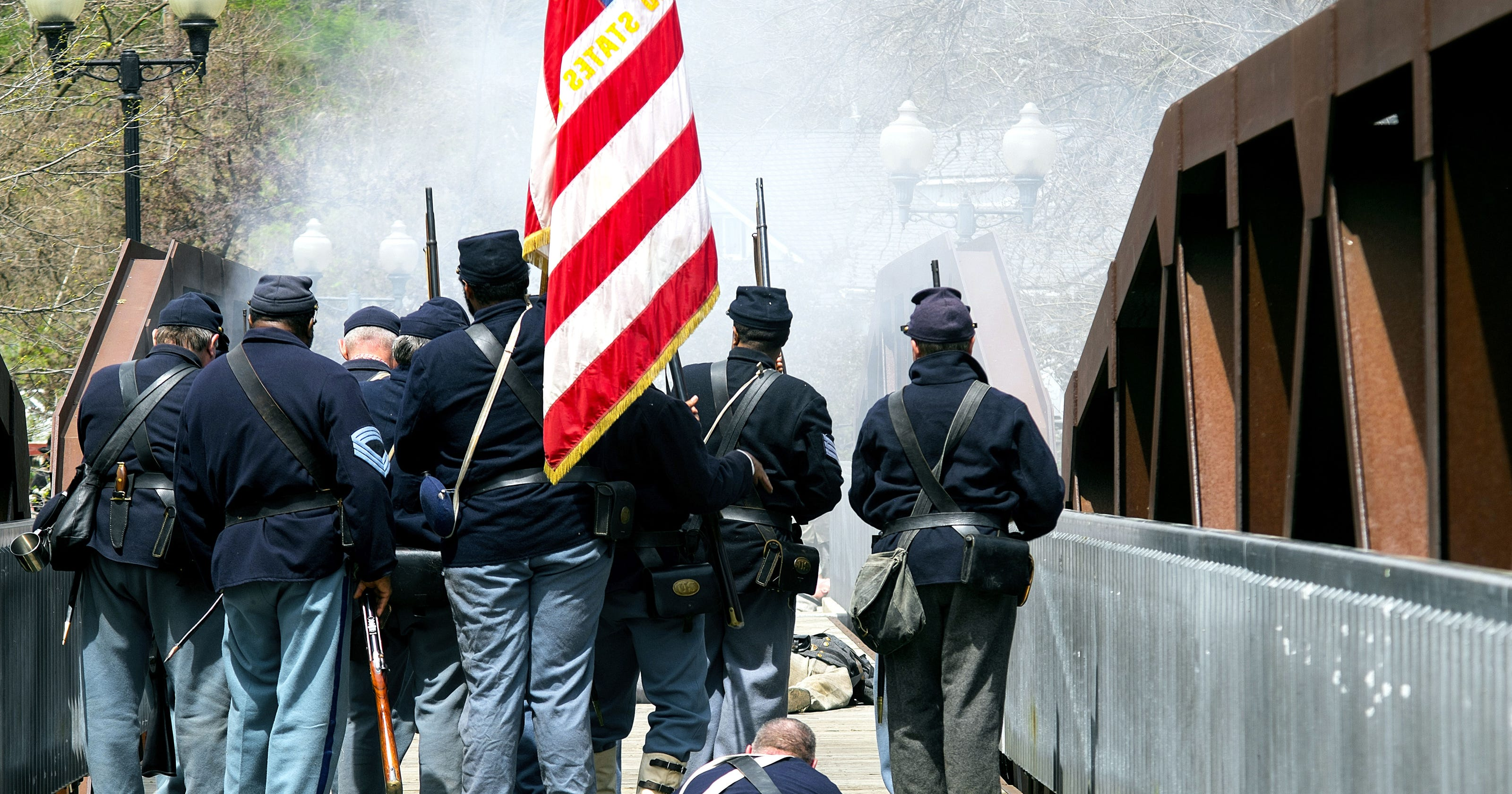 Muster up! Civil War re-enactors line up to fight again