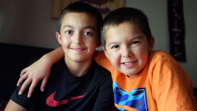 Ethan, 12, and Evan Silacci, 9, of Salinas are very close. The two boys play baseball and football together even though Evan tires easily because he suffers from Multiple Sclerosis. Now that Ethan's old enough to participate, he will ride in the Bike MS: Waves to Wine Ride in September in support of his brother.