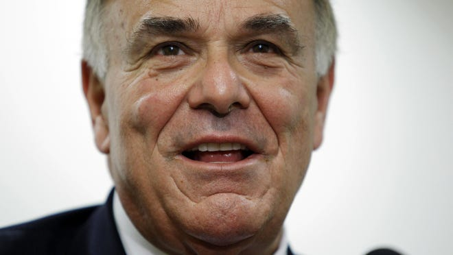 FILE - In this Jan. 3, 2011 file photo, Pennsylvania Gov. Ed Rendell makes remarks during a news conference in Philadelphia. (AP Photo/Matt Rourke, File)