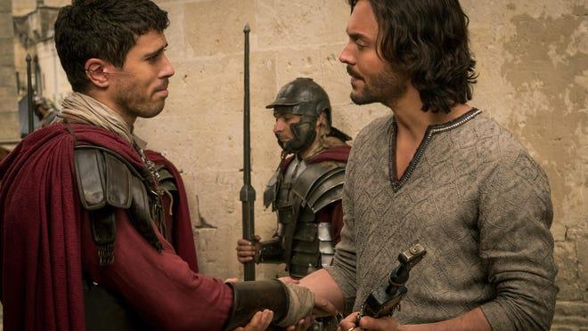 """Toby Kebbell plays Messala Severus and Jack Huston plays Judah Ben-Hur in """"Ben-Hur."""""""