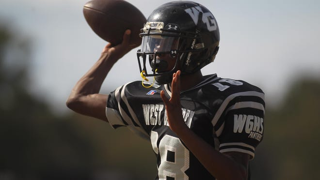 West Gadsden junior quarterback Dentarrius Yon has thrown for 2,105 yards with 28 touchdowns and just four interceptions this season.