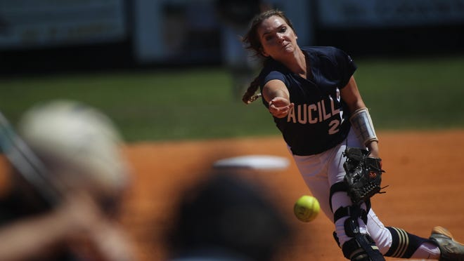 Aucilla Christian junior pitcher Elizabeth Hightower struck out 11 batters and gave up just one hit in five innings during a 10-0 win over Peniel Baptist on Monday in a Region 1-2A semifinal.
