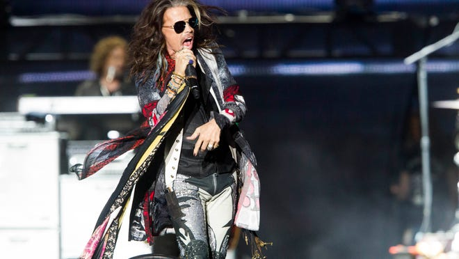 Steven Tyler performs with Aerosmith during the March Madness Music Festival at Margaret T. Hance Park in Phoenix on Sunday, April 2, 2017.