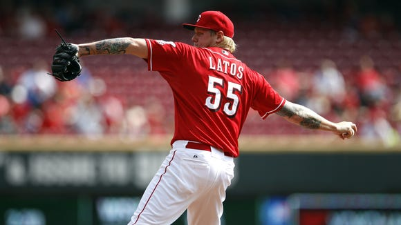 Mat Latos is one of six Reds players projected to start the season on the disabled list.