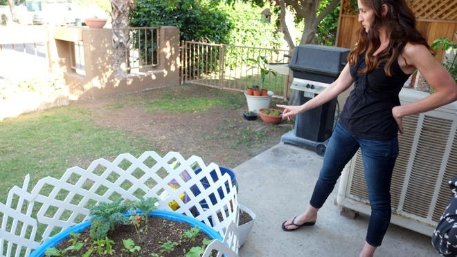 Erin Davis is working to control her Multiple Sclerosis symptoms through her diet. She explains what she grows in one of her organic gardens at her home.