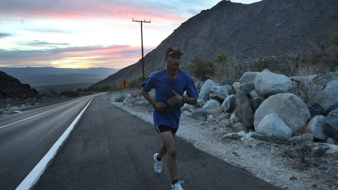 Enrique Rodarte Moreno, 51, has been a runner since the age of 8. He is one of the top runners in the valley in his age group and he hopes to win the tram run in his category on October 25, 2014, when he participates in his 6th Tram Road Challenge. In this photo Moreno practices the tram road run as part of his preparation.