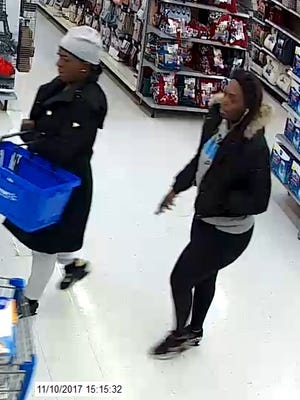 Deputies believe these two women are suspects in an identity theft at the Blue Water Lodge