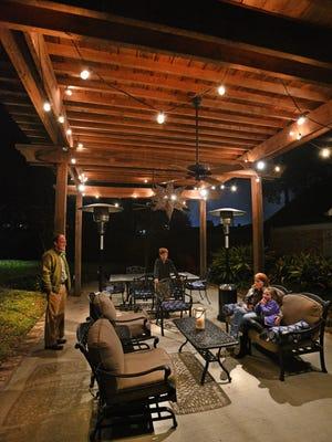 Shreveport family enjoys their outdoor patio.