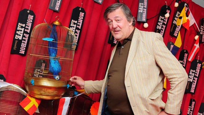 Stephen Fry arriving for the first night performance of the Monty Python Show Live at the O2 Arena, London, Tuesday July 1, 2014.