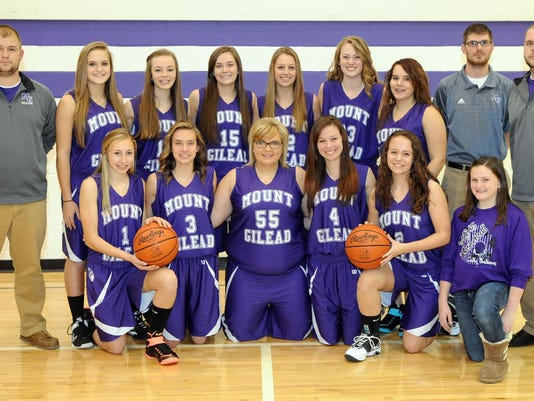 2014-15 mount gilead girls varsity basketball