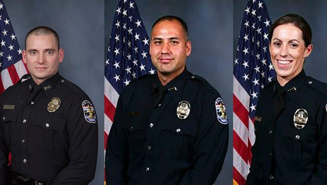 Officers involved in the Friday night fatal shooting.