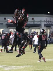 South Fort Myers' Freddie Ward celebrates his touchdown