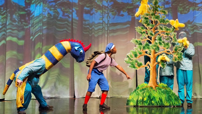 "Enchantment Theatre Company presents ""My Father's Dragon,"" based on the children's novel by Ruth Stiles Gannett, features talking animals, flying dragons and buried treasure."