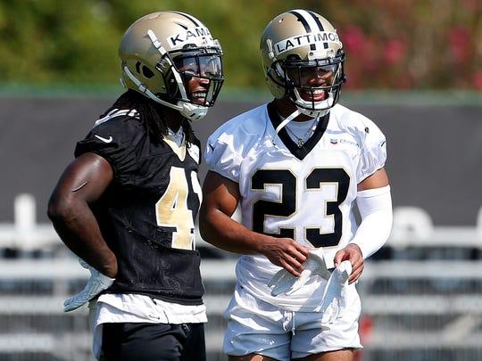 New Orleans Saints running back Alvin Kamara (41) and