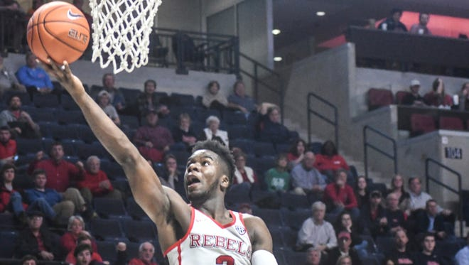 Ole Miss guard Terence Davis scored 20 points in a win against Tennessee on Tuesday.