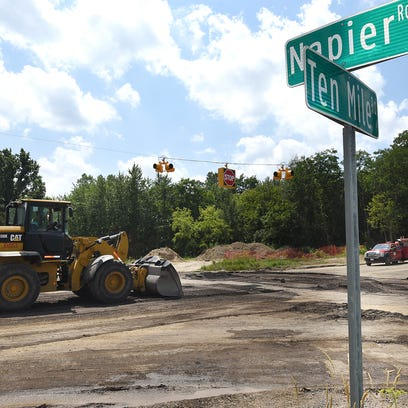 Work continues July 18 at the intersection of Ten Mile