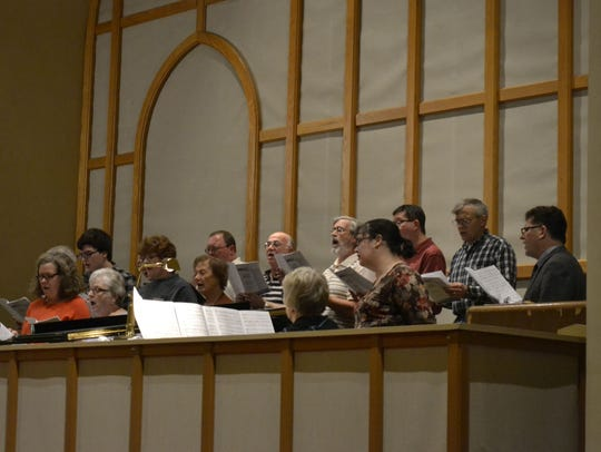 A choir with members from host church St. Mary of the