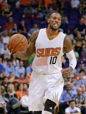 Phoenix Suns guard Sonny Weems plays against Houston in their NBA preseason game on Tuesday, Oct. 13, 2015 in Phoenix.