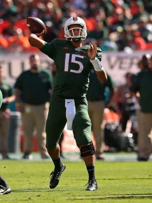 Miami quarterback Brad Kaaya is the ACC's top passer, with 1,799 yards and 10 touchdowns.