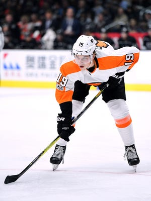Nolan Patrick says that taking faceoffs has been his biggest adjustment to the NHL.