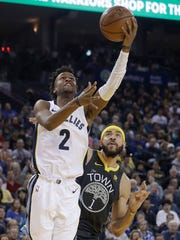 Memphis Grizzlies guard Kobi Simmons (2) shoots next