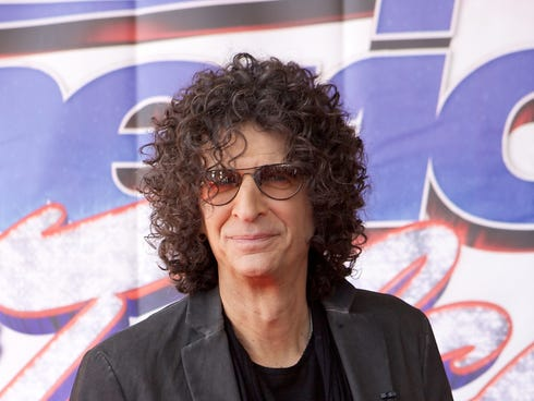 Howard Stern on May 8, 2013 in Rosemont, Ill. for an 'America's Got Talent' event.