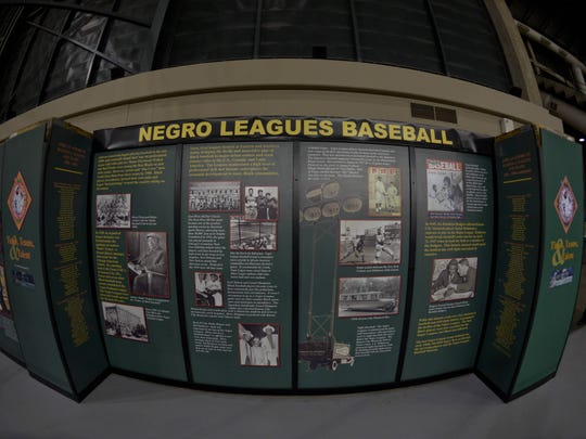 A display commemorating the Negro Leagues is situated in right field at Chase Field.
