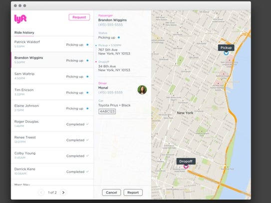Lyft Concierge allows administrators to request rides