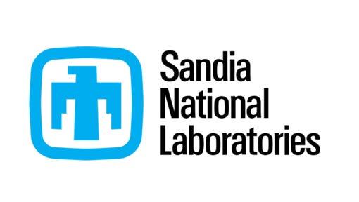 Sandia National Laborities logo is shown.