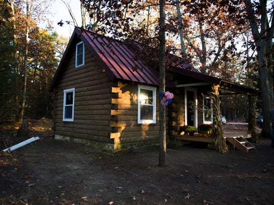 One of the newly renovated cabins on the 277-acre campground