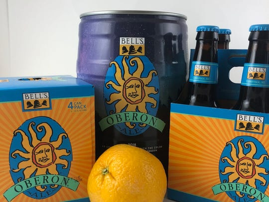 Michigan summer beers such as Bell's Oberon Ale are perfect by the beach or pool.