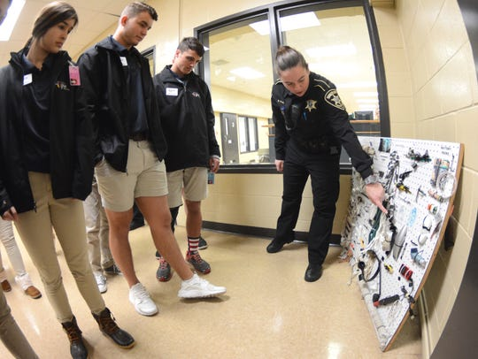 Bossier Sheriff Julian Whittington hosted students