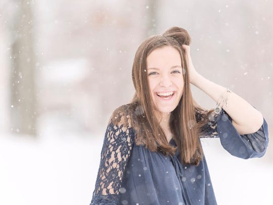 Alyssa White, a junior at Fairfield Area High School, poses for a photo prior to her Hodgkin's lymphoma diagnosis in January 2018.