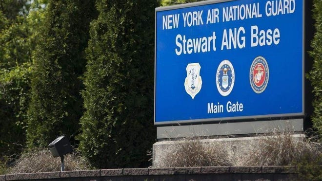 Main gate at the Stewart Air National Guard base.A community group and a group representing the base are finding common ground as they work through remediation efforts of tainted water sources.