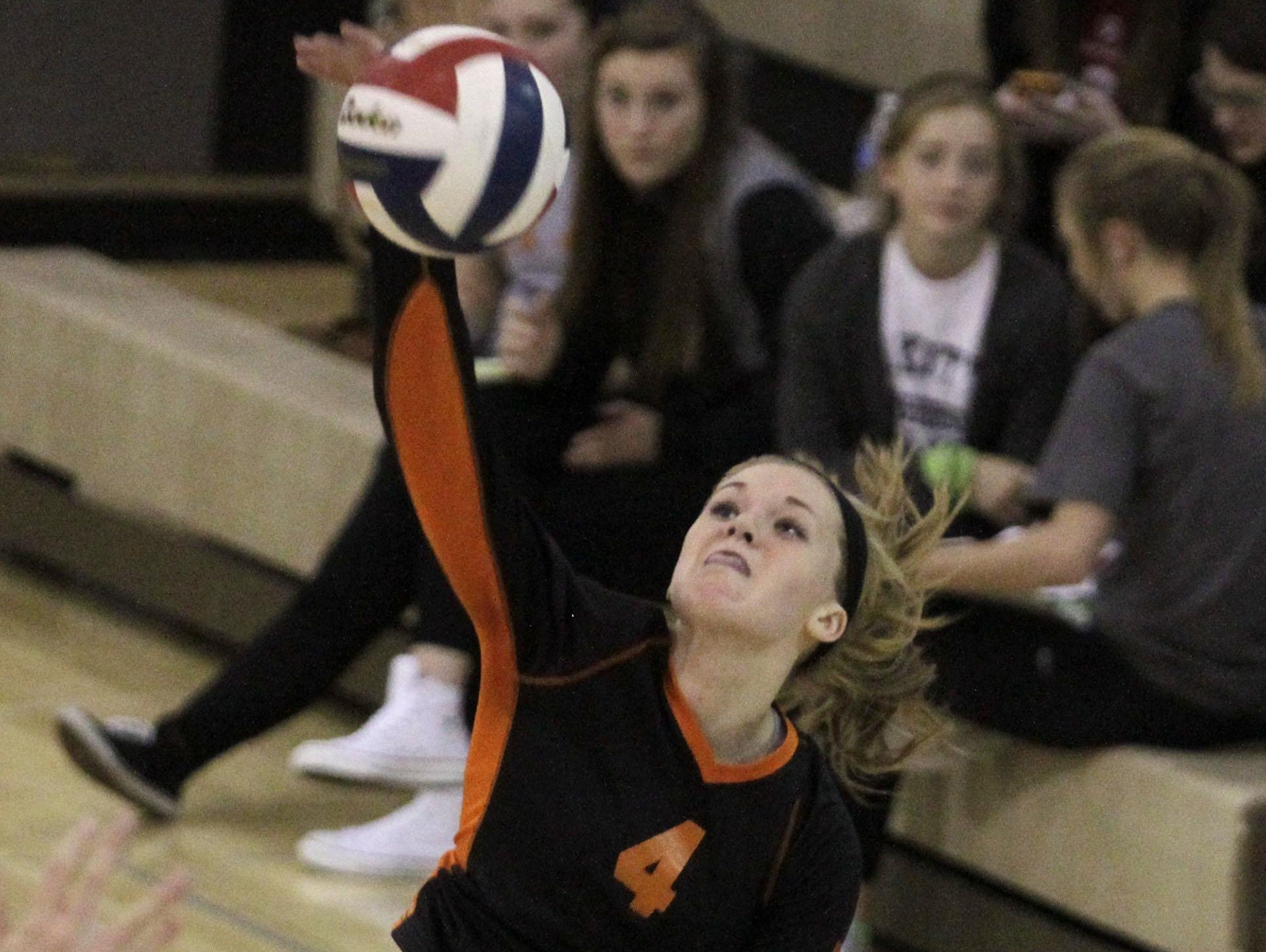 Ryle's Hayley Bush helped lead the Raiders past Dixie Heights Thursday night.