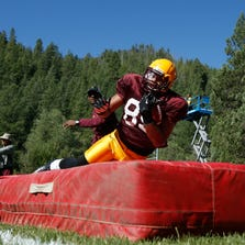 Arizona State WR Frederick Gammage at Camp Tontozona on Tuesday, Aug. 13, 2013 east of Payson.