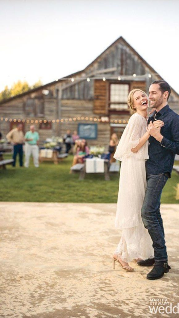 """The """"shabby"""" barn and outdoor setting was so revered in the wedding world, Martha Stewart published this wedding in her magazine."""