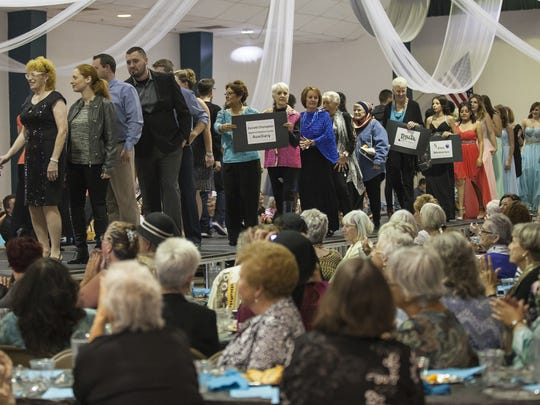 Turquoise and Silver Tea models take to the runway one last time during the style fashion show at last year's event.