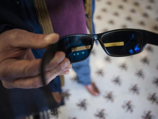 Dave Belcher's special glasses reduce PTSD symptoms.
