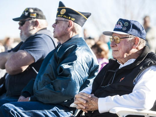 John England, an Air Force veteran, attends the the Veterans Day ceremony at the Montana Veterans Memorial.