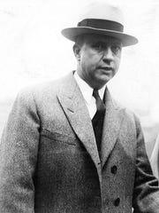 Lee Keyser, an owner of the Des Moines Demons, in 1929.