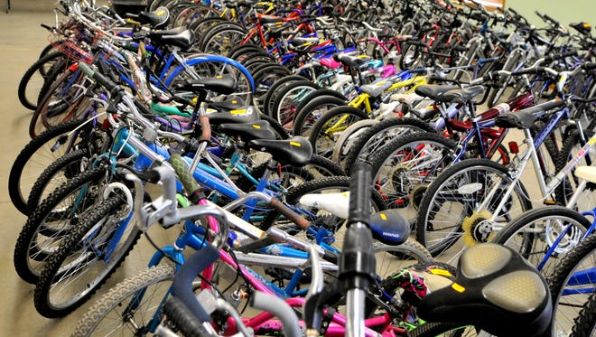 More than 100 bicycles are available for purchase as part of St. Cloud's abandoned property auction.