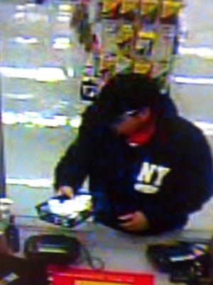 Video surveillance of a man who robbed a Kmart in Clarksville Saturday afternoon.