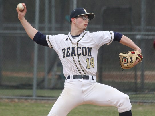 Beacon's Alex Callaway delivers a pitch during during