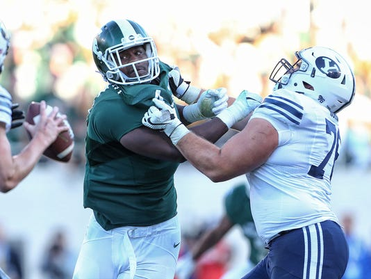 NCAA Football: Brigham Young at Michigan State