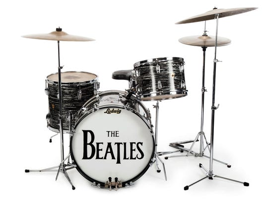 Ringo Starr's first 1963 Ludwig Oyster Black Pearl three-piece drum kit