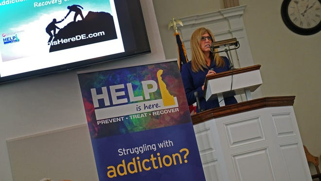 """Karyl Rattay, director for the Division of Public Health, talks about the """"Help is Here"""" website that has been updated with additional features to navigate people on how to get help with addiction."""