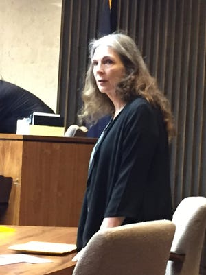 Donna Scrivo, 61, of St. Clair Shores in court on the first day of her  trial Wednesday, May 6, 2015, in the murder and dismemberment of her adult son, Ramsay Scrivo, 32, last year at his condo in St. Clair Shores.