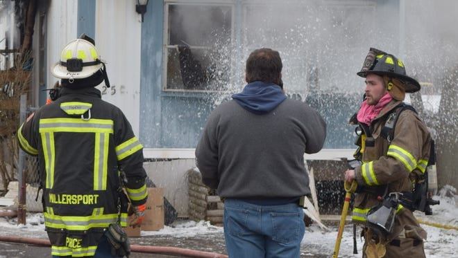 A trailer home in Buckeye Lake caught fire Feb. 12. All occupants of the home evacuated with no injuries.