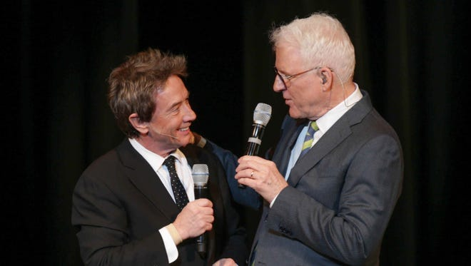 Martin Short, left, and Steve Martin will perform March 5 at Old National Centre.